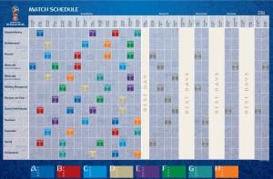 ЧМ по футболу 2018 график