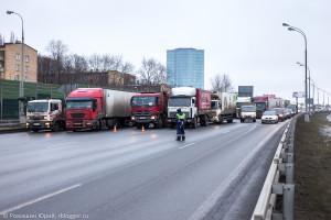 забастовка дальнобойщиков МКАД