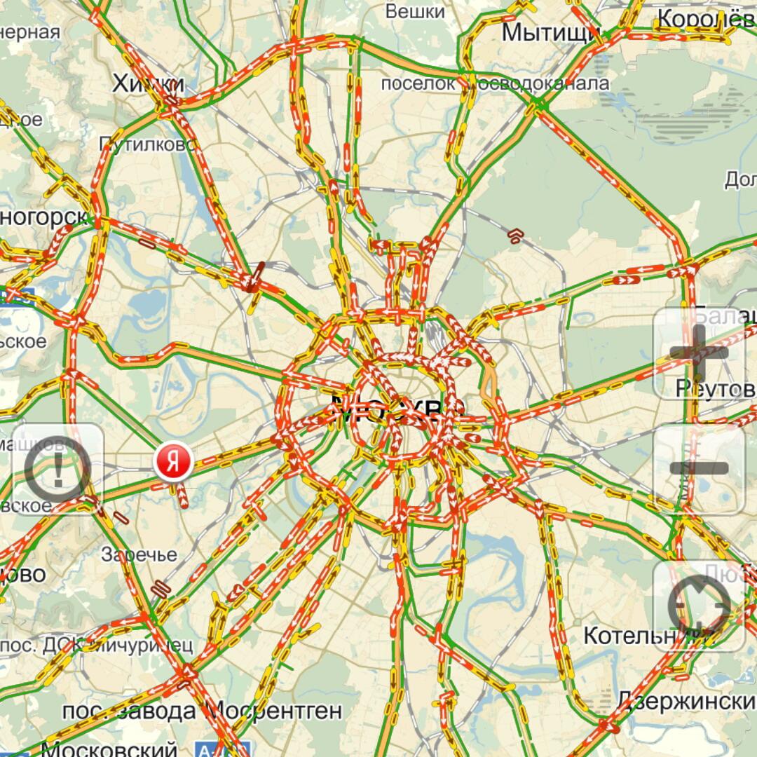 Яндекс пробки Санкт-Петербурга онлайн
